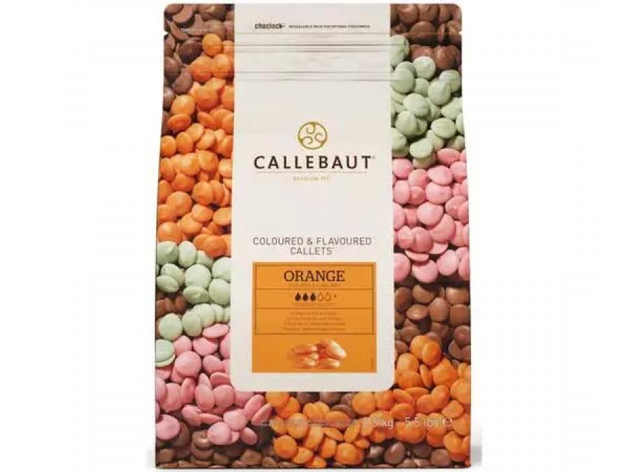 Шоколад со вкусом апельсина Callebaut Orange 100 г