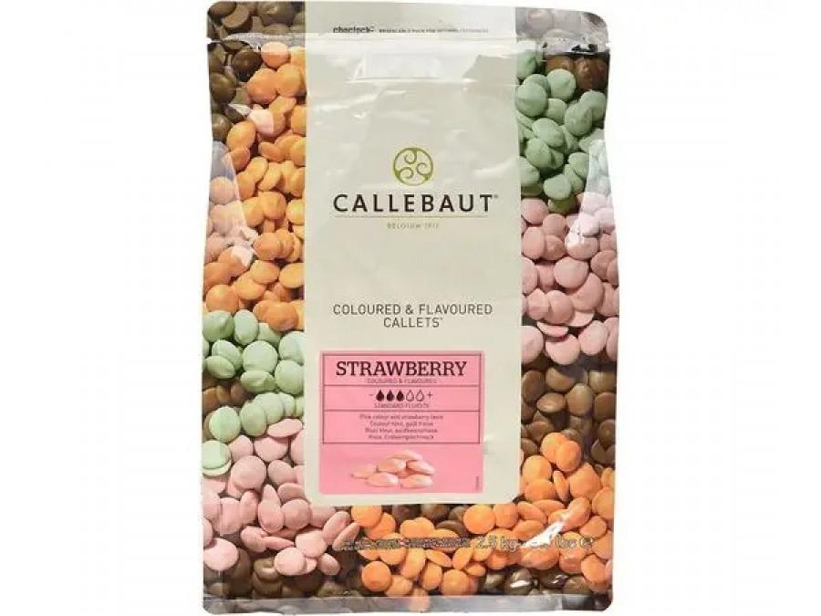 Шоколад со вкусом клубники Callebaut Strawberry 100 г