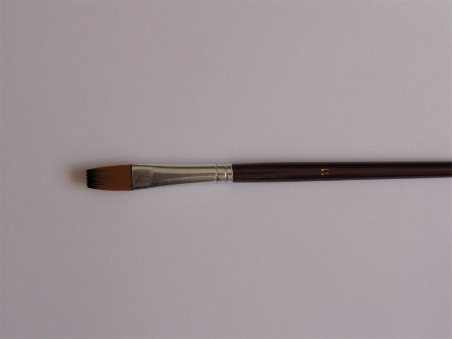 Кисть плоская № 11 коричневая