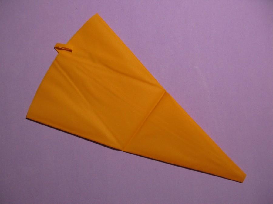 Мешок силиконовый многоразовый оранжевый 4-46