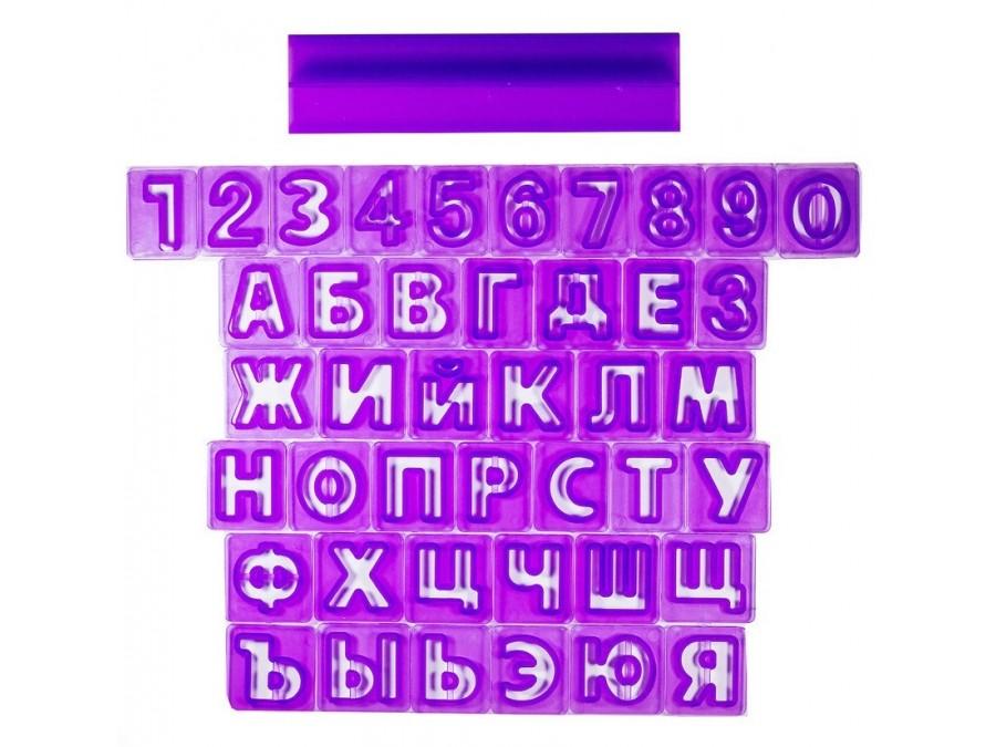 Набор вырубок Алфавит русский+цифры с держателем