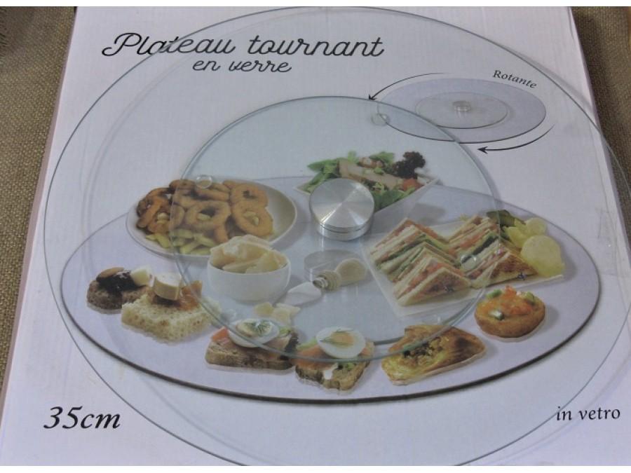 Поворотный столик стекло 35 см