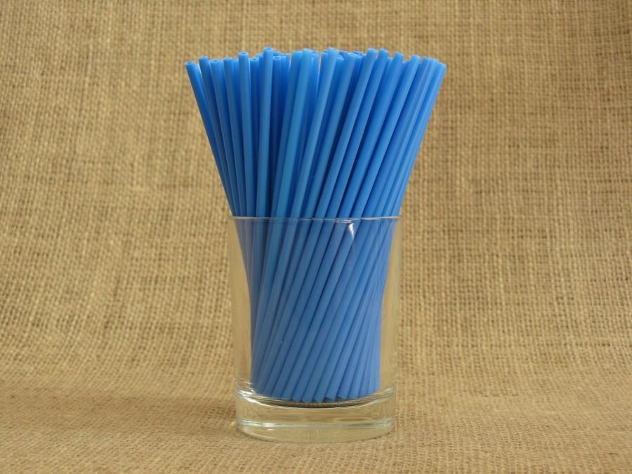 Палочки для кейк попсов Синие 50 шт