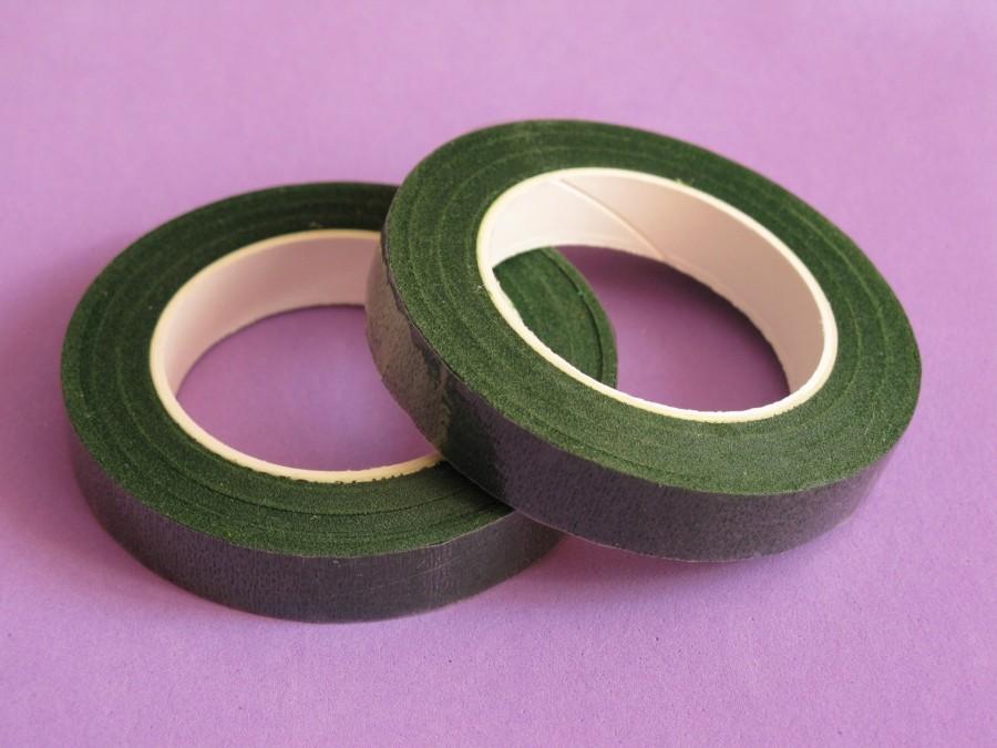 Тейп-лента для цветов Темно-Зеленая (18м)