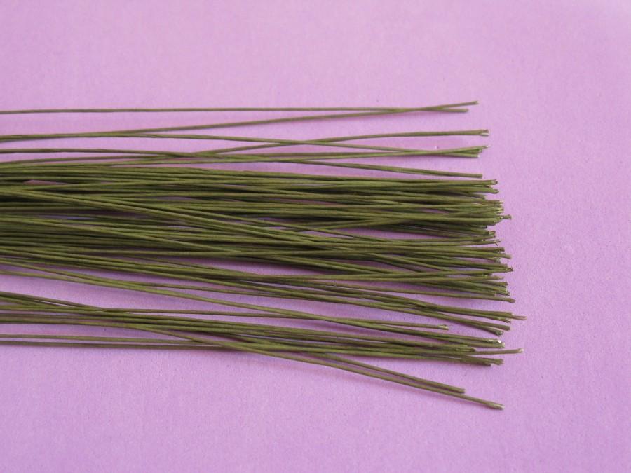 Проволока для цветов d 0,7 мм. в обмотке зеленая ( 25 см), 10 шт