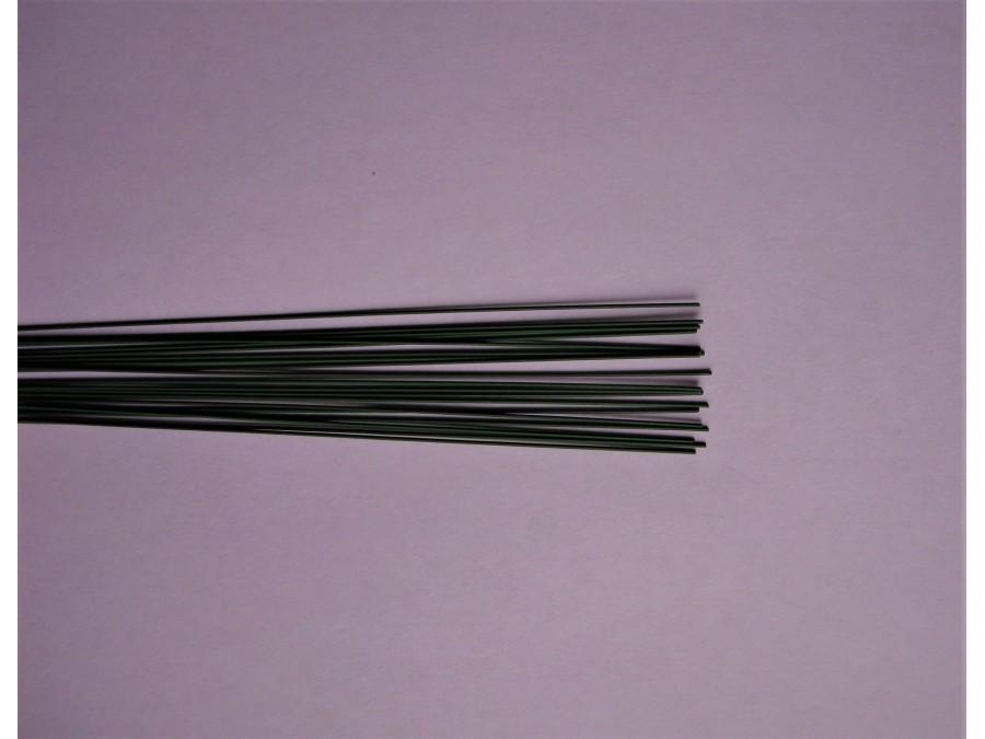 Проволока для цветов d 0,7 мм. без обмотки зеленая ( 40 см), 10 шт