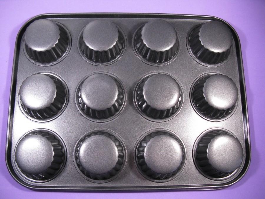 Металлическая форма для выпекания кексов 12 шт