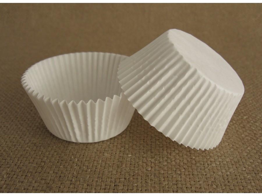 Бумажная форма для кексов 50х30 Белая, 50 шт