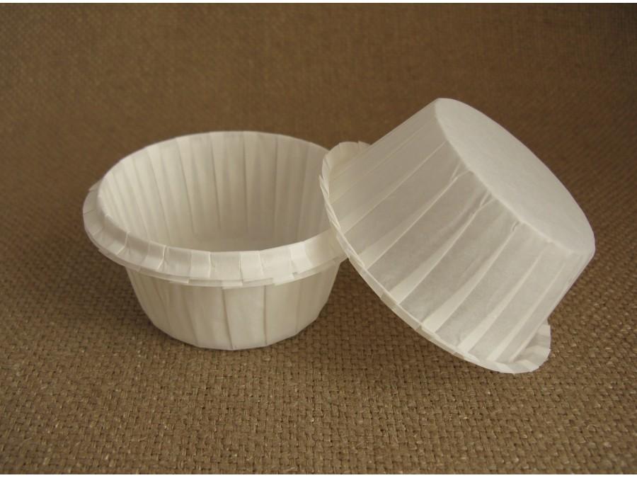 Бумажная форма для кексов с бортиком белая, 55х35 , 25 шт