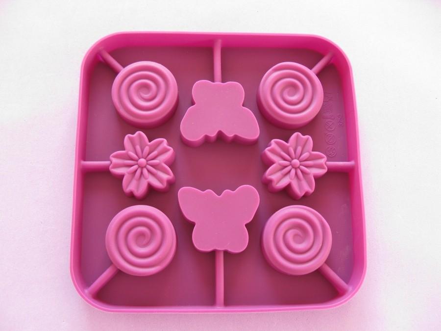 Силиконовая форма для леденцов Бабочки, цветочки из 8 ед