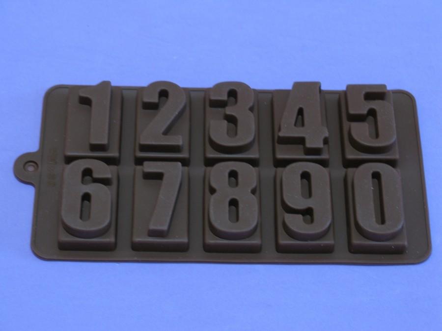 """Силиконовая форма на планшетке для льда, шоколада, мастики """"Цифры"""""""