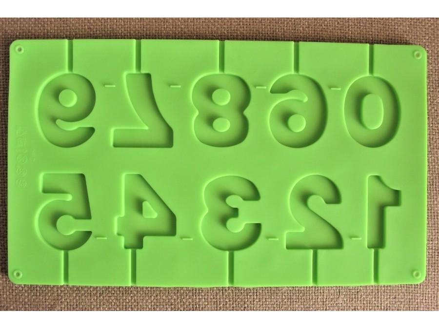 """Силиконовая форма для конфет на палочке """"Цифры"""""""