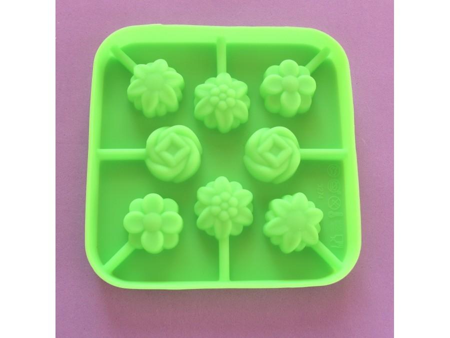 Силиконовая форма для леденцов Сердца, конфетки из 8 ед