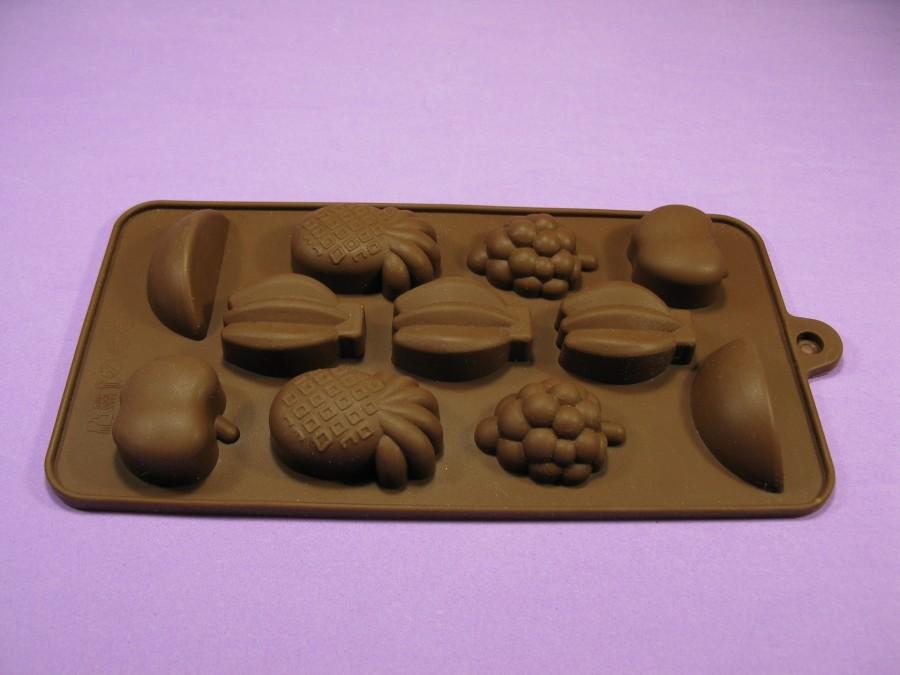 """Силиконовая форма на планшетке для льда, шоколада, мастики """"Фрукты"""""""