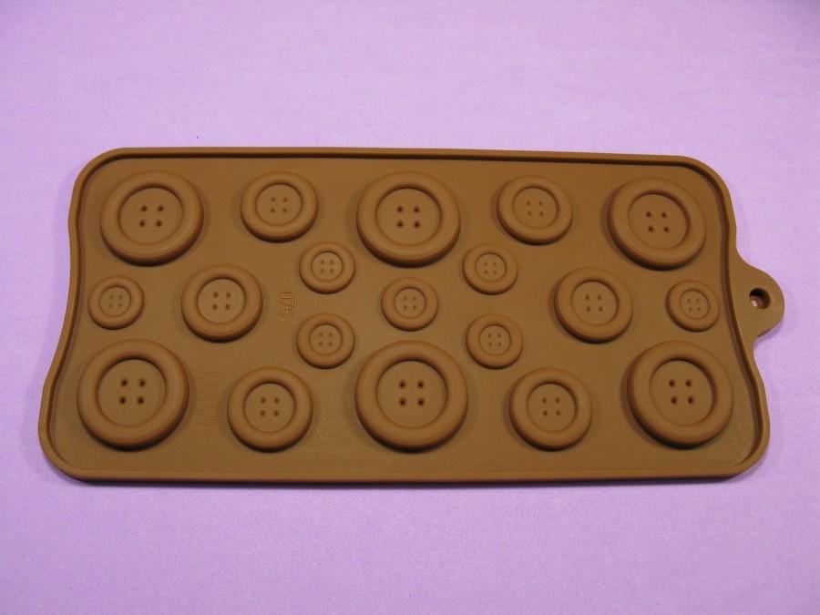 """Силиконовая форма на планшетке для льда, шоколада, мастики """"Пуговицы"""""""