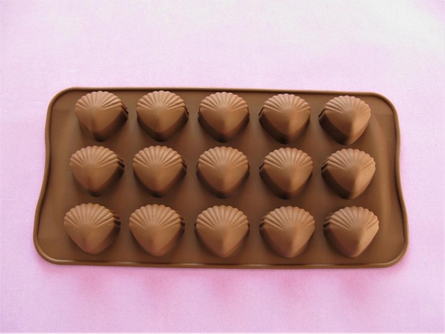 Силиконовая форма на планшетке для льда, шоколада, мастики Ракушки