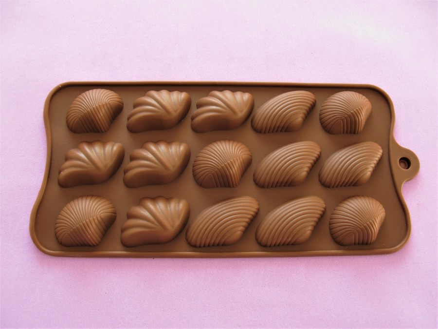 Силиконовая форма на планшетке для льда, шоколада, мастики Ракушки-2