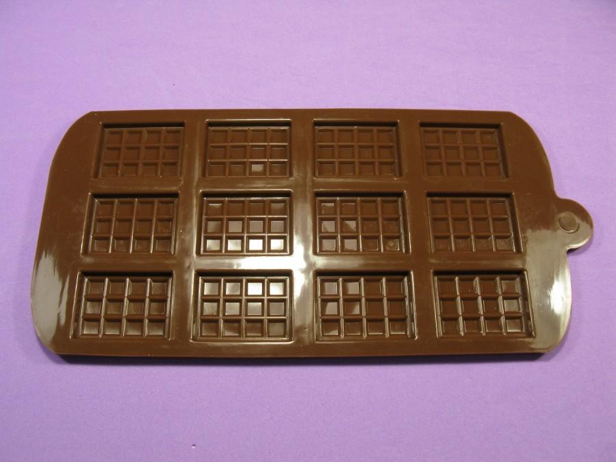 """Силиконовая форма на планшетке для льда, шоколада, мастики """"Дольки шоколада"""""""