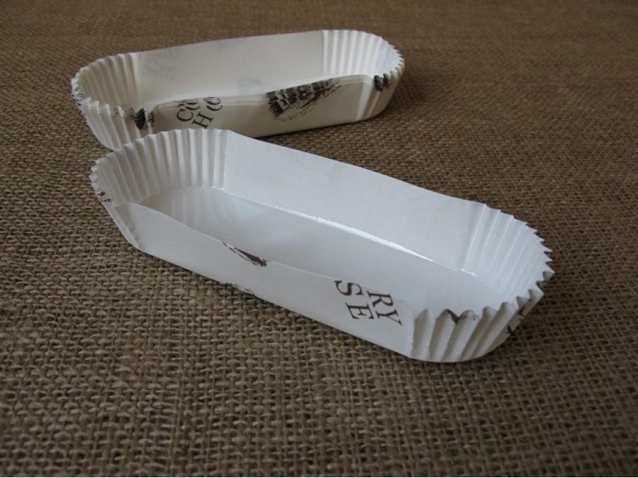 Бумажная прямоугольная форма для эклеров, пирожных , Country House 10 шт