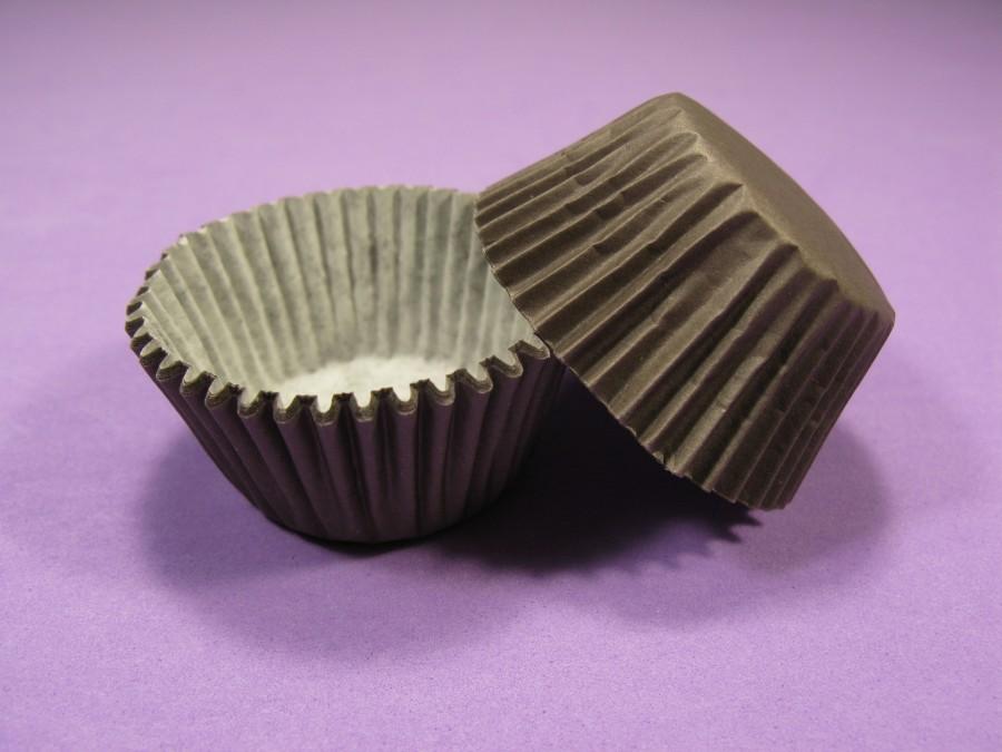 Бумажная формочка для конфет Коричневая 35х20, 50 шт