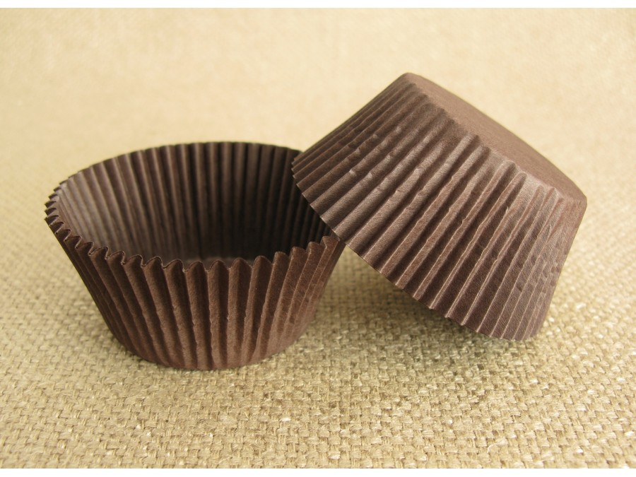 Бумажная форма для кексов 50х30 Коричневая, 50 шт