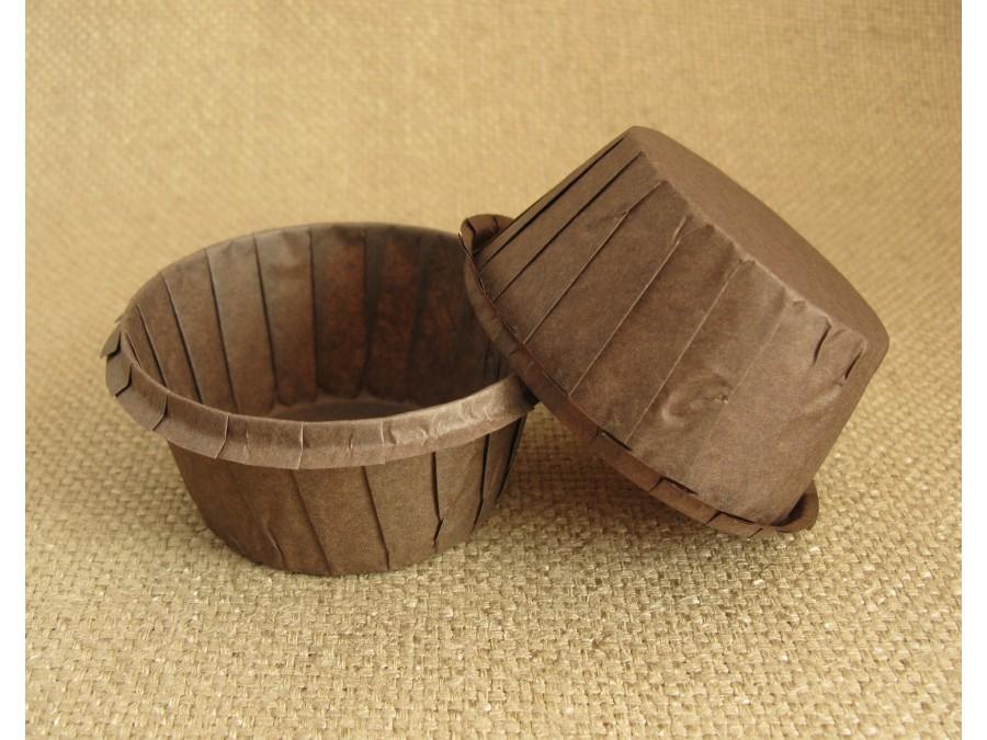 Бумажная форма для кексов с бортиком коричневая, 55х35 , 25 шт