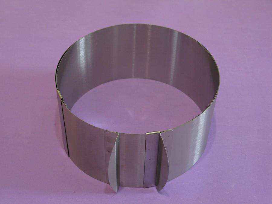 Форма металлическая Круг раздвижной 15-30 см высота 12 см