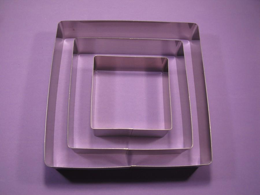 Металлическая форма Квадрат набор 3 шт