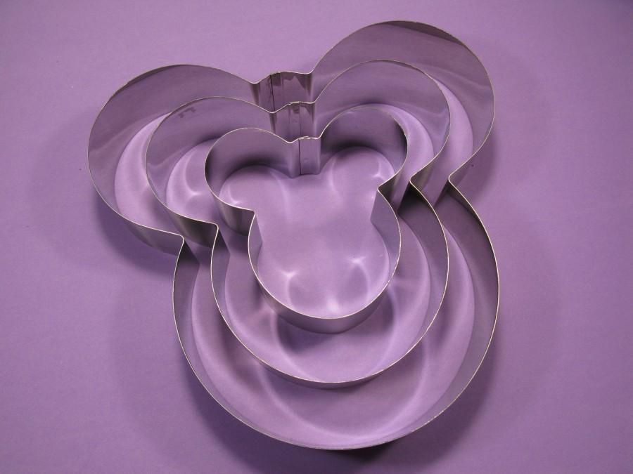 Металлическая форма Микки набор 3 шт