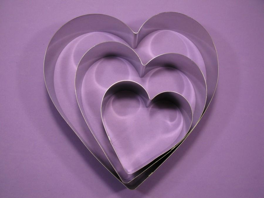 Металлическая форма Сердце набор 3 шт