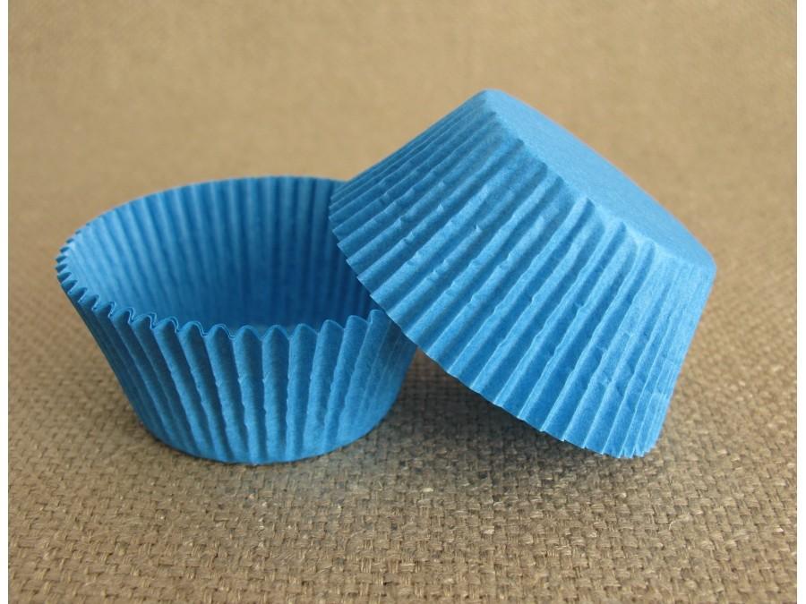 Бумажная форма для кексов 50х30 Синяя, 50 шт