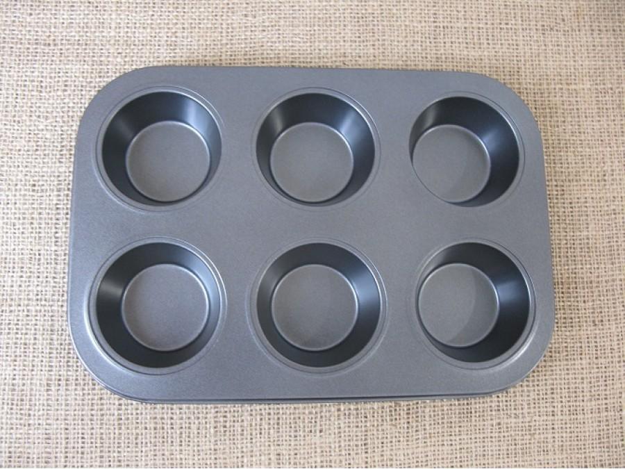 Металлическая форма для выпечки кексов на 6 шт