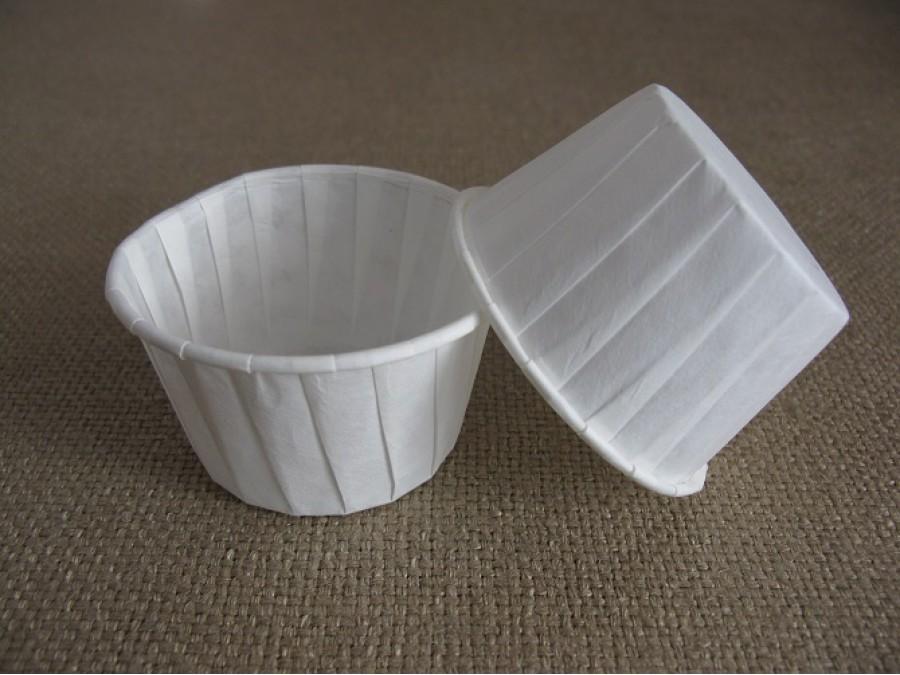 Бумажная форма для кексов усиленная с бортиком белая, 50х40 , 25 шт