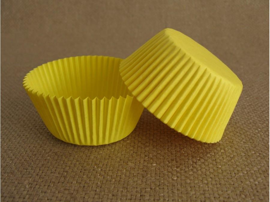 Бумажная форма для кексов 50х30 Желтая, 50 шт