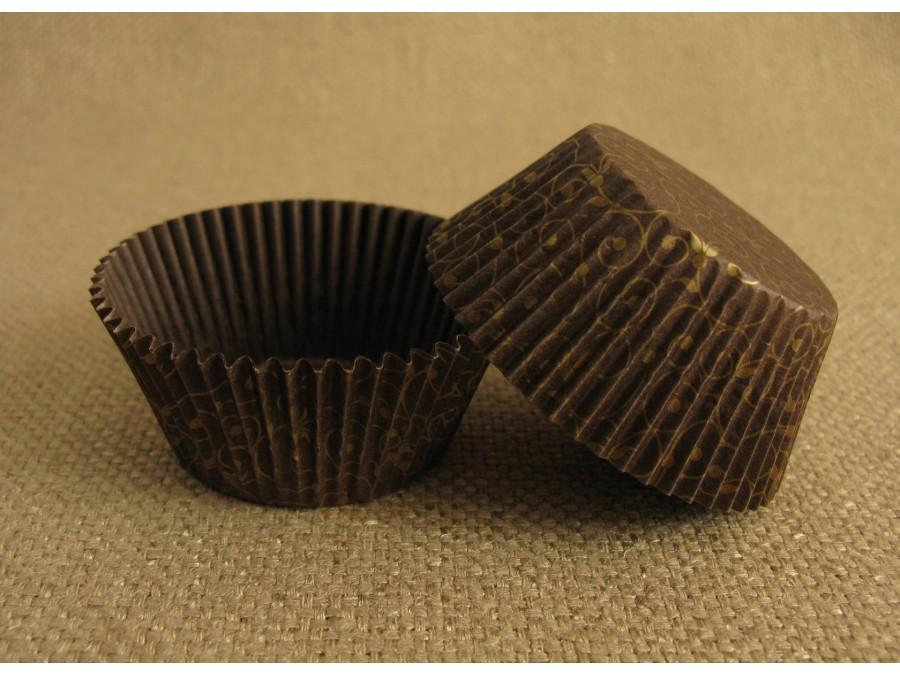 Бумажная форма для кексов 50х30 Версаль Золото, 50 шт