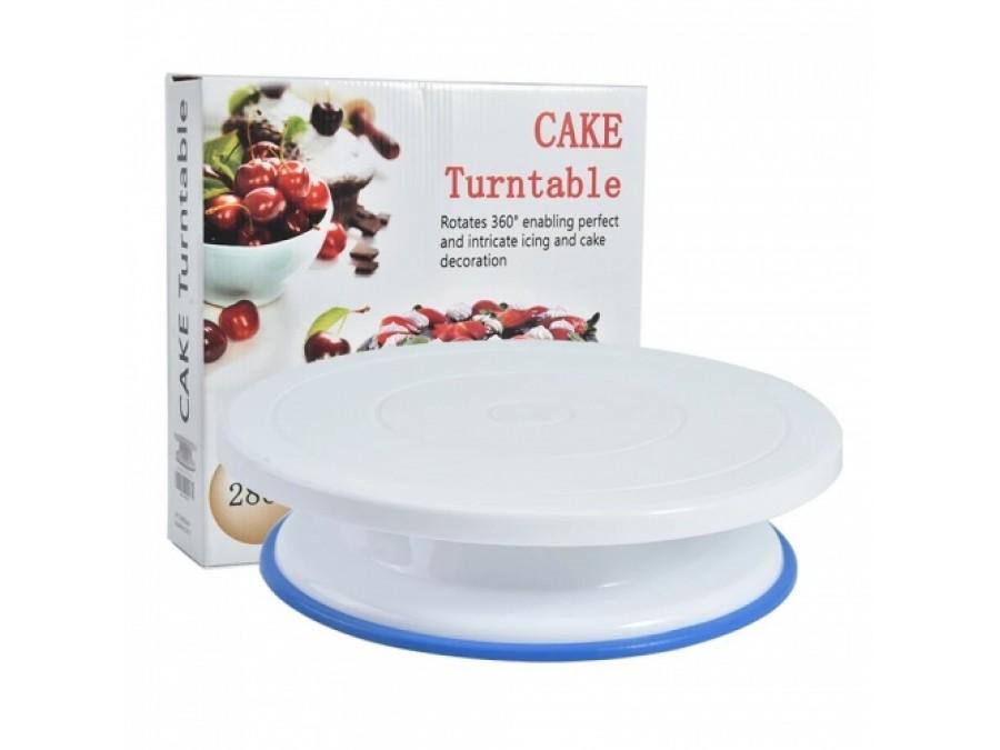 Поворотный столик для торта с силиконовой вставкой 28 см