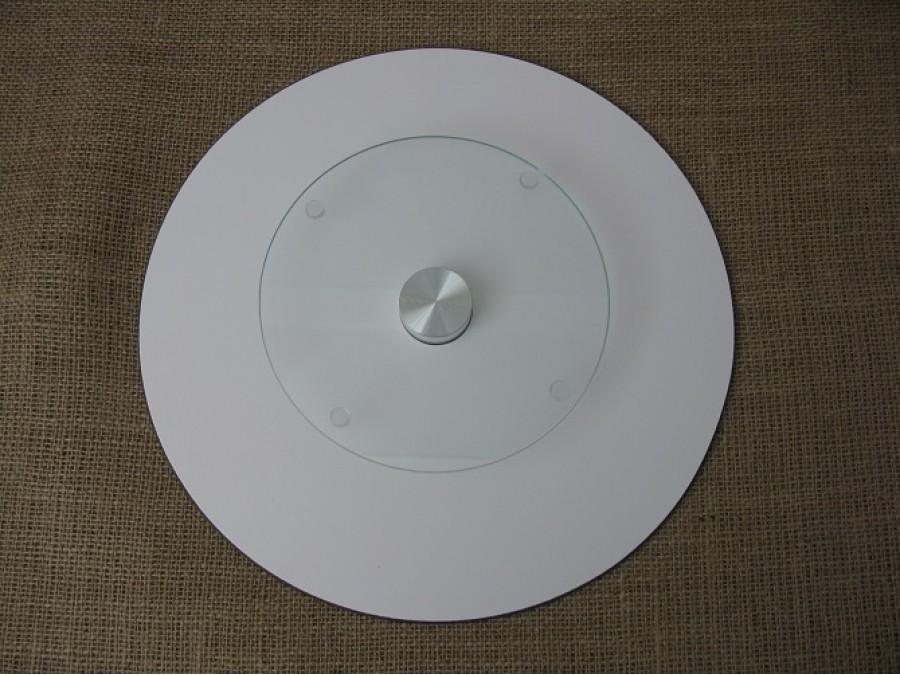 Поворотный столик для торта стеклянный 32см