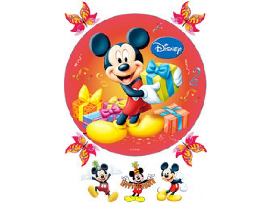 Картинка на вафельной бумаге Микки Маус 3