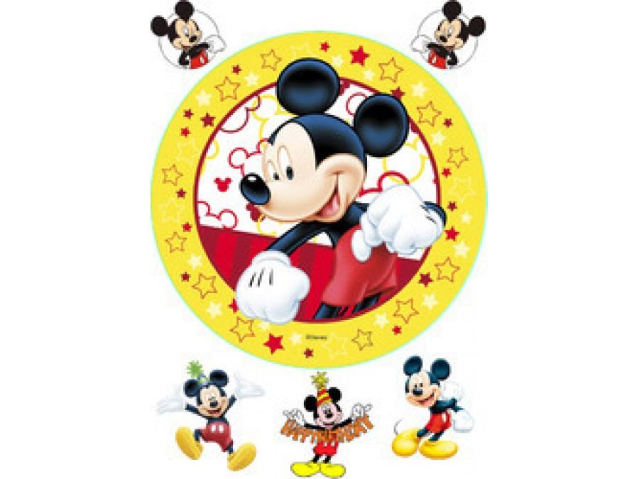 Картинка на вафельной бумаге Микки Маус 4