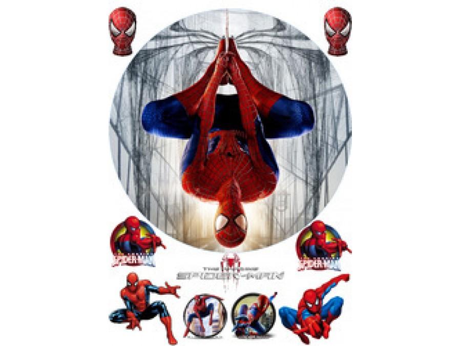 Картинка на вафельной бумаге Человек Паук №13