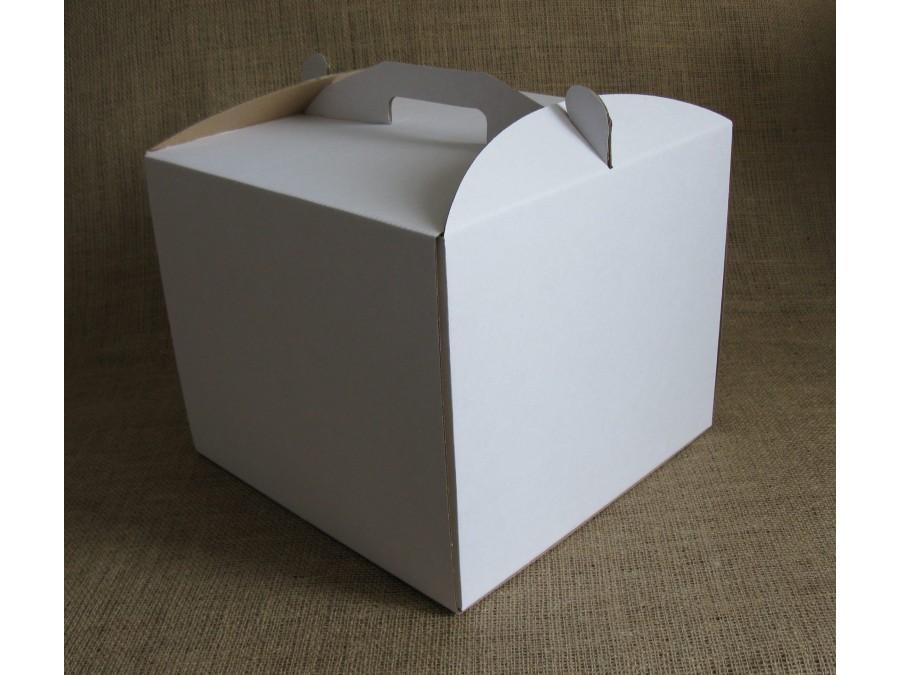Коробка для торта 30х30х25 см Белая