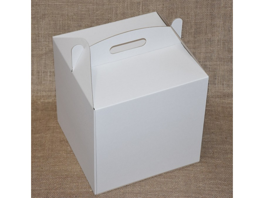 Коробка для торта 35х35х35 см Белая