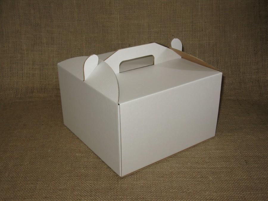Коробка для торта 25х25х15 см Белая