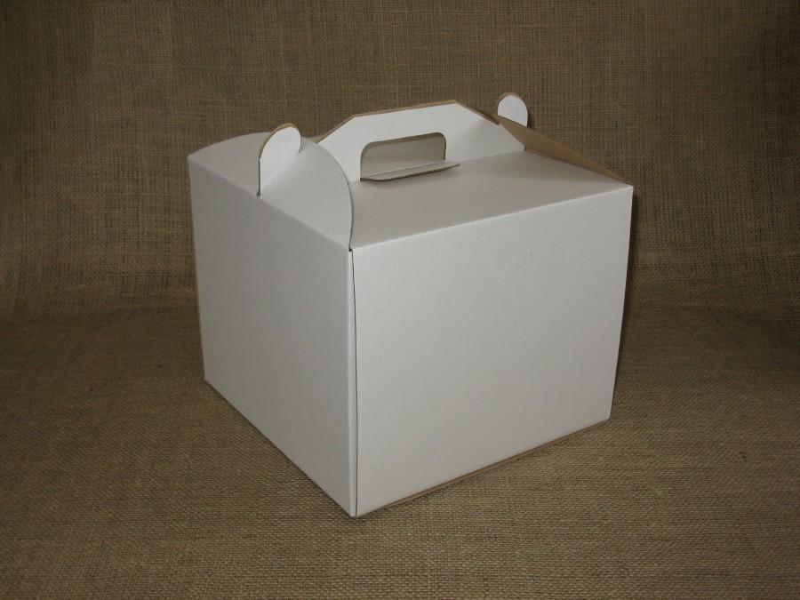 Коробка для торта 25х25х20 см Белая