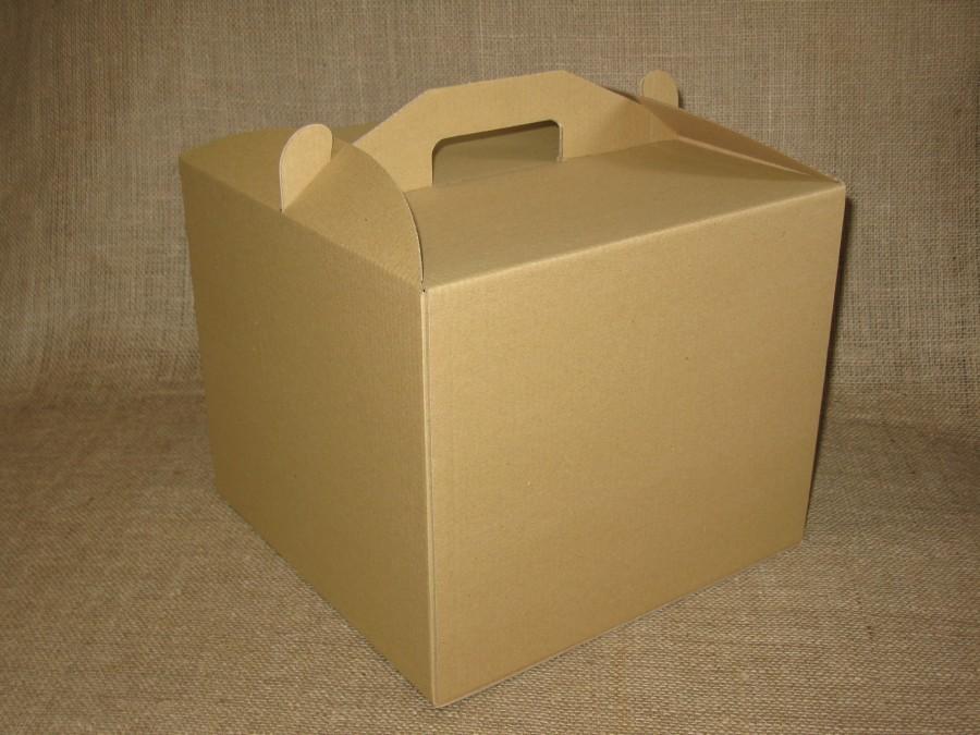 Коробка для торта 30х30х25 см Крафт