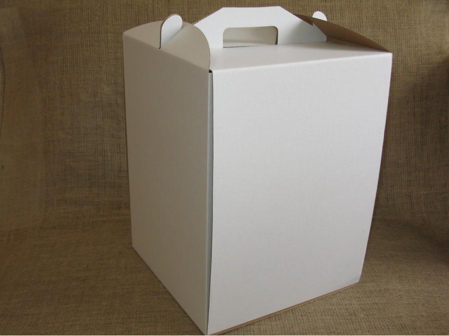 Коробка для торта 30х30х40 см Белая