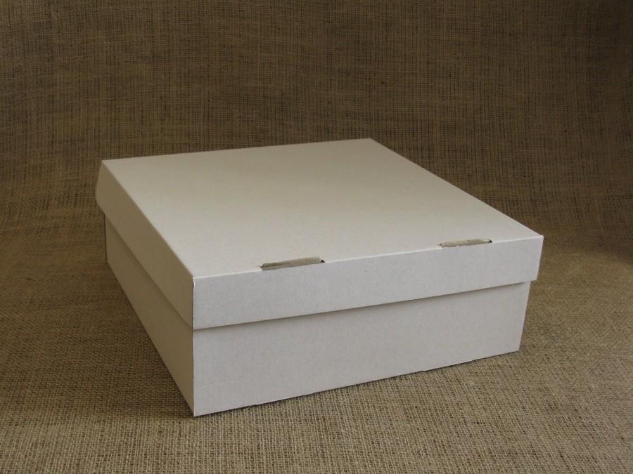 Коробка для торта/пирога 30х30х11 см Белая