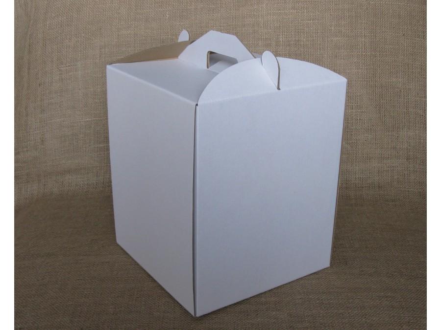 Коробка для торта 25х25х30 см Белая
