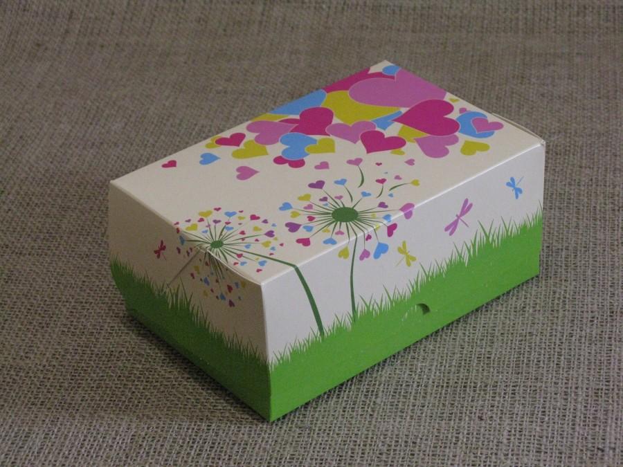 Коробка-контейнер универсальная 18х12х8см Сердечки