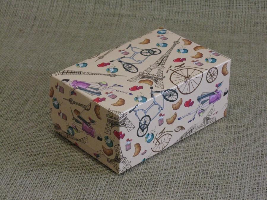 Коробка-контейнер универсальная 18х12х8см Париж